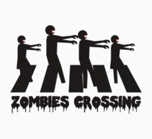 Zombies Crossing T-Shirt by CroDesign