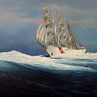 United States Coast  Guard Barque Eagle by William H. RaVell III