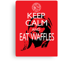 Keep Calm and Eat Waffles Canvas Print