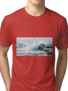 Rocks and waves at Point Cartwright  Tri-blend T-Shirt