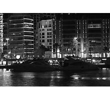 Night shot 04 - Beirut - Zaytouni Bay - Black & White Photographic Print