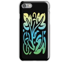 Smartphone Case - Abstract Botanical - Green Blue Yellow iPhone Case/Skin