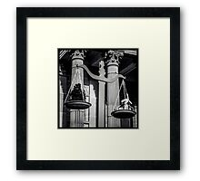 Weighing it all up........ Framed Print