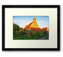 Flowered cottage in Brittany Framed Print