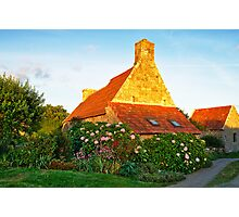 Flowered cottage in Brittany Photographic Print