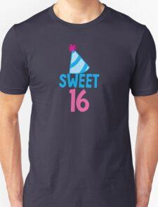 Sweet 16 Birthday design with hat T-Shirt