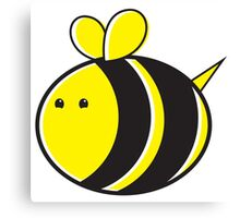 Cute little bumble fat bee Canvas Print