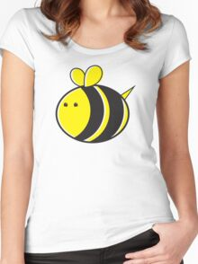 Cute little bumble fat bee Women's Fitted Scoop T-Shirt