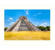 El Castillo - Chichen Itza Mayan Ruins Art Print