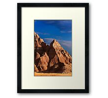 Sunrise over Badlands National Park .4 Framed Print