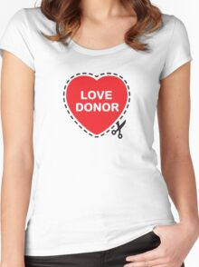 Love Donor Women's Fitted Scoop T-Shirt