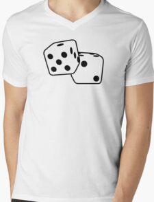 Dice Mens V-Neck T-Shirt
