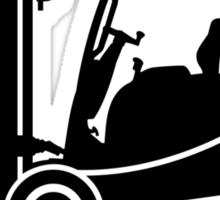 Forklift Truck Silhouette Sticker