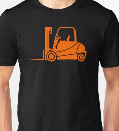 Forklift Truck Silhouette Unisex T-Shirt