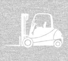 Forklift Truck Silhouette One Piece - Long Sleeve