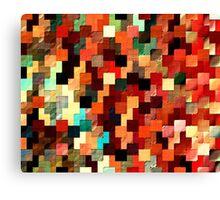 relief tetris structure Canvas Print