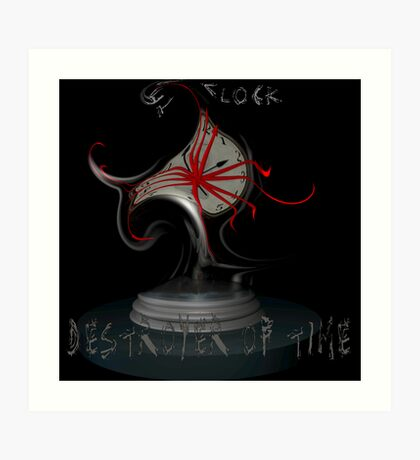 The Clock, Destroyer of Time Art Print