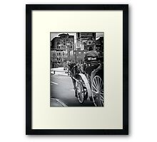 Pearl Street Stroll Framed Print