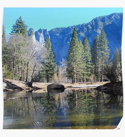 Reflection in Yosemite Park Poster