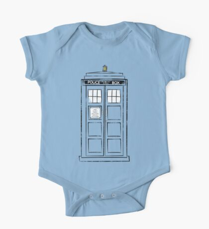 Tardis (trashy) One Piece - Short Sleeve