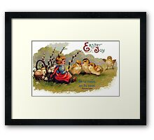 Happy Easter - Children's Greeting Card Framed Print