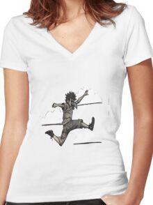 Bird Boy Women's Fitted V-Neck T-Shirt