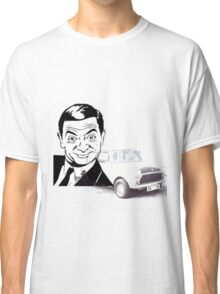 Black and white Mr Bean and his car T-shirt  Classic T-Shirt