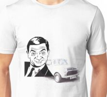 Black and white Mr Bean and his car T-shirt  Unisex T-Shirt