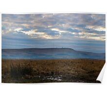Winter Hill From Cheetham Close.  Poster