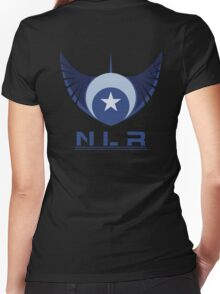 New Lunar Republic  Women's Fitted V-Neck T-Shirt