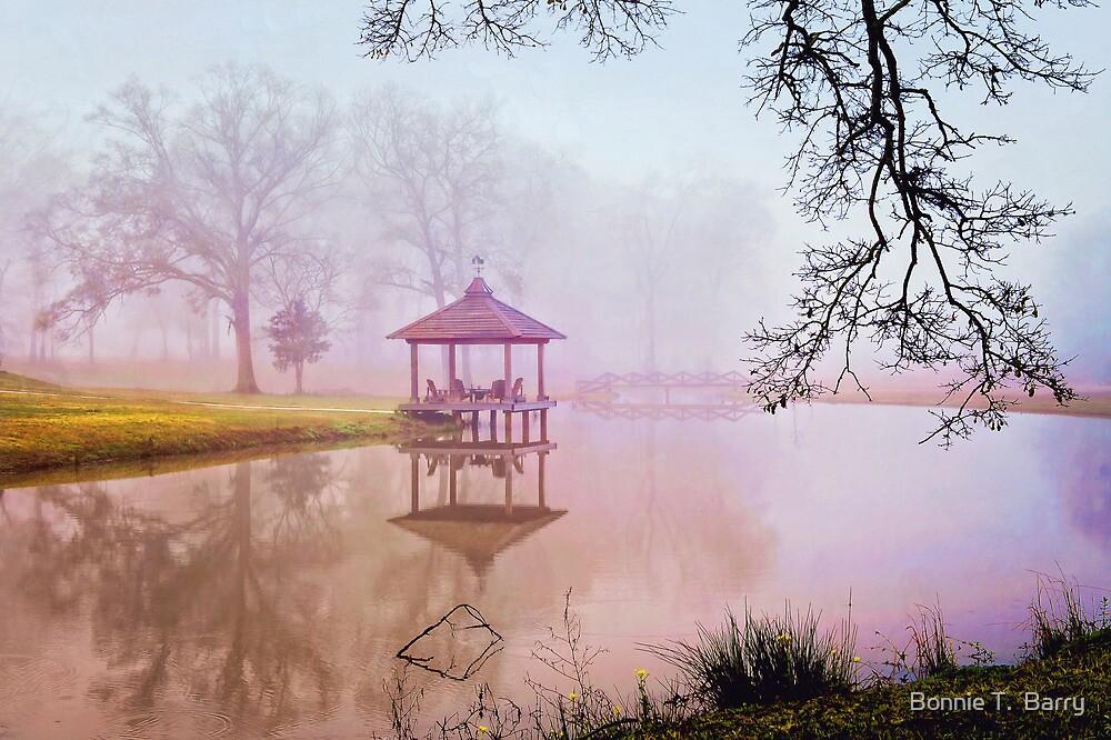 Gazebo on a Foggy Morning by Bonnie T.  Barry