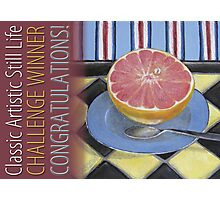 Classic Artistic Still Life Group: Winner Banner Photographic Print