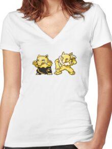 Drowzee evolution  Women's Fitted V-Neck T-Shirt