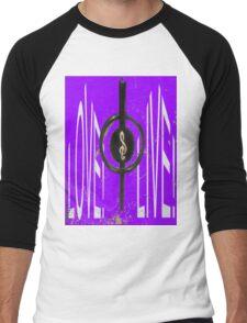 love, live, music! Men's Baseball ¾ T-Shirt