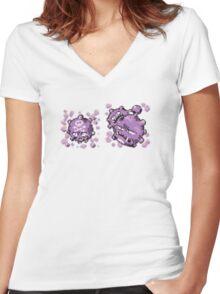 Koffing evolution  Women's Fitted V-Neck T-Shirt