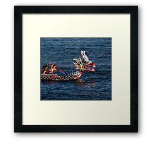 Dragon boat race Framed Print