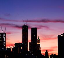 THE NEW WORLD TRADE CENTER AND BROOKLYN BRIDGE by KENDALL EUTEMEY