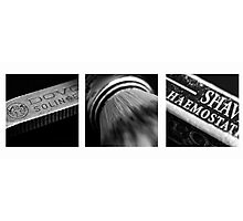 Straight Razor Shaving Tryptych III Photographic Print