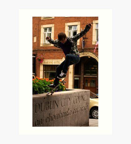 Skate Jump Art Print