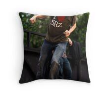 Skateboarder Dropping In Throw Pillow