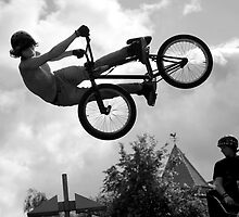 BMX Half-pipe Air by Ronan Hickey
