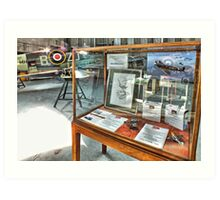 MH434 And The OFMC Model Case Hangar 2 Duxford ! Art Print