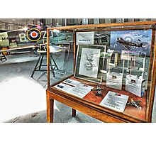 MH434 And The OFMC Model Case Hangar 2 Duxford ! Photographic Print