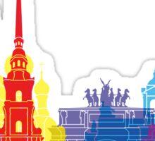 St Petersburg skyline pop Sticker