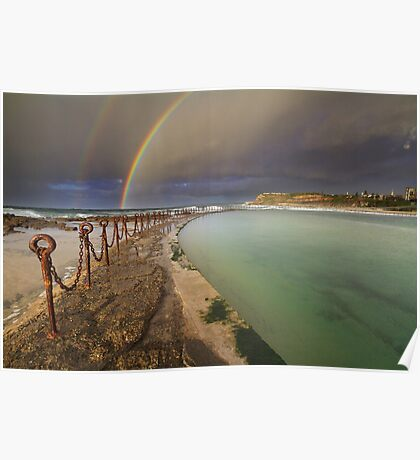 Rainbow over the canoe pool Poster