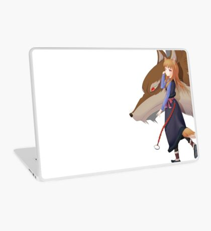 Holo the wise wolf - Spice and Wolf Laptop Skin