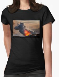 Sunset at Kalapana 3 Womens Fitted T-Shirt