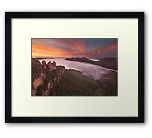 Sunrise at the Three Sisters Framed Print