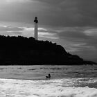 Lone Surfer Biarritz by Brian  Dwyer