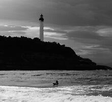 Lone Surfer Biarritz by Brian  Dwyer